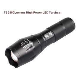 Lanterna tática levou o poder on-line-Lanternas LED de alta potência CREE XML T6 Zoom Tactical Lanternas de LED Lanternas de luz Para bateria 3xAAA ou 1x18650.