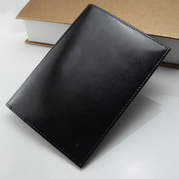 Wholesale Men Leather Travel Wallet - Luxury Passport Wallets Card Holders Holder Cover Case Protector MB Genuine Leather Travel Purse Wallet Bag Passport ID Cover Case Protector