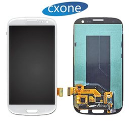 Wholesale S3 Replacement Frame - Repair New Original For Samsung Galaxy S3 i9300 i747 T999 i535 R530 L710 LCD Touch Screen Digitizer Replacements With Frame Free Shipping