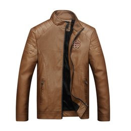Wholesale Leather Jackets Wool Lining - Wholesale- Bolubao New Men Winter Leather Jacket Fashion Casual Motorcycle PU Faux Leather Fleece Lined Warm Male Jackets Coat Outerwear