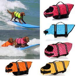Wholesale Swims Coat - Pet Dog Life Jacket Safety Clothes for Pet Life Vest Summer Clothes Saver Swimming Preserver Swimwear Large Dog Life Jacket Suit