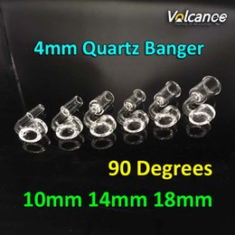 Wholesale Making Honey - Free Shipping 100% Quarts 4MM Thick Banger Hand Made Quartz Banger Nail Honey Buckets Bubble With Female Male Ground Joint
