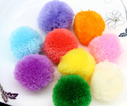 Wholesale 4cm Ball - 150pcs big 40mm mix color Pom pom ball pompom yarn pom decor handmade project supply Garland crochet cotton decor 4CM