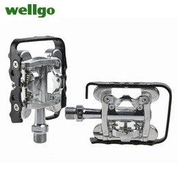 """Wholesale Bicycle Clipless Pedals - WELLGO WPD-M17C MTB Road Bike Bicycle Cycling Parts 9 16"""" Cr Mo Spindle Seald Bearing Clipless Pedals For SHIMANO SPD Compatible"""
