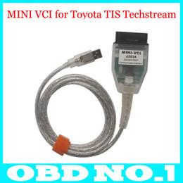 Wholesale Techstream Tool - 2015 Latest MINI VCI for Toyota TIS Techstream V10.00.028 Single Cable MINI VCI for Toyota J2534 Diagnostic Tool Free Shipping