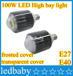 Светодиодные лампы высокого уровня e27 онлайн-2016 высокая мощность 100 Вт LED high bay лампы E40 E27 светодиодные лампы модернизации комплекты света склад завод промышленного освещения CE ROHS
