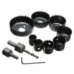 Wholesale Metal Hole Saws - Best Price 11Pcs Hole Saw Cutting Set Kit 19-64mm Wood Metal Alloys Circular Round & Case High Quality order<$18no track