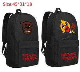 Wholesale Night Backpack - Five Nights at Freddy's backpack schoolbag chica bear figure toy Cartoon schoolbags Five Nights At Freddy Bags Free shipping D201
