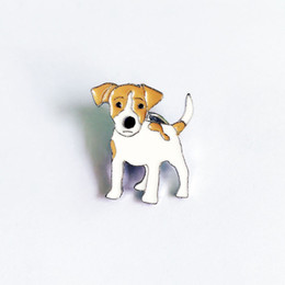 Wholesale Girls Jack - Jack Russell Terrier Brooches For Women Girls Men Silver Color Metal Alloy Animal Pet Male Female Dog Brooch Pin Clothes Jewelry