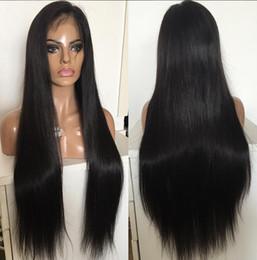 Wholesale Venta caliente a calidad natural hairline peluca densidad sedoso recto encaje peluca pelo chino encaje frente peluca con el pelo del bebé envío gratis
