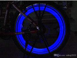 Wholesale Wheel Electric Bike - Hot Bike Bicycle LED Lights Motorcycle Electric car Wheels Spokes Lamp Silicone 4 colors flash alarm light cycle accessories Free Shipping