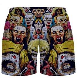 Wholesale Man Fashion Pant Sport - New Fashion brand quick dry shorts men women skull graphic print jogging Short pants joggers sports basketball harajuku trousers
