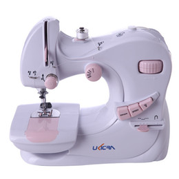Wholesale Sewing Machine Foots - New Arrival Mini multifunction 10 Stitches Electric Sewing Machine Home Use Foot pedal With Gs adaptor Metal Material inside