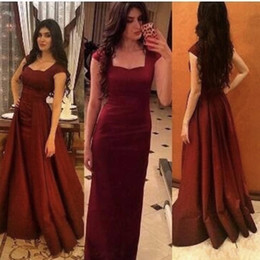 Wholesale prom dresses sweethart - 2018 Mermaid Burgundy Prom Dresses Sweethart Evening Party Gowns Long Dress With Detachable Train Formal Women's Gowns