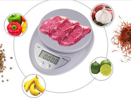 Wholesale Mini Balance 1g - Wholesale-Kitchen Scale 5000g 1g 5kg New 2016 Household Hot Mini High Precision Measurement Digital Scales Balance Weight LED Electronic