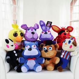 Brinquedo anime pato on-line-25cm cinco noites no Freddy Fazbear Urso Bonnie Foxy Duck balão da menina do menino do balão bichos de pelúcia Bonecas Kid Toys