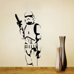 Wholesale Black Star Decal - Xtra Large Storm Trooper Star Wars Poster Vinyl Wall Sticler Life Size Wall Art Big Mural Wall Art Wall Stcker
