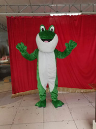 Wholesale Green Adult Mascot Costume - frog mascot costume Adult Size free shipping