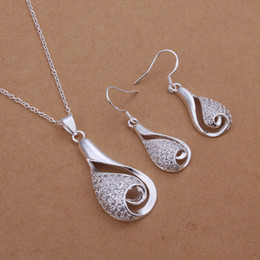 Wholesale Silver Bottle Earrings - High grade 925 sterling silver Insets bottle suit jewelry sets DFMSS361 brand new Factory direct sale wedding 925 silver necklace earring