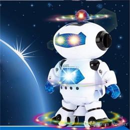 Wholesale Toys Dancing Ship - Electric Smart Space Walking Dancing Robot Children Kids Music Light Toys Free Shipping A5