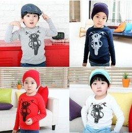 Wholesale Winter Season Boy - Wholesale-Cartoon Long Sleeves Warm Sweatshirts Tees T-shirts For Autumn Winter Season Baby Boys Girls Wholesale 1 Lot 5 Pieces