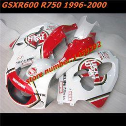 Wholesale Lucky Strike 96 Gsxr - For SUZUKI GSX R600 R750 Red white Lucky 96 97 98 99 00 SRAD GSXR 600 750 Lucky Strike 1996 1997 1998 1999 2000 Fairing