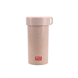 Wholesale Special Straw - Convenient 100 special straw eco-friendly glass straw fiber plastic cup perfect straw cup 450 ML