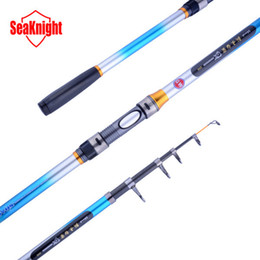 Wholesale Long Telescopic Fishing Rods - GW New 98% Carbon 2.1M 4 Sections Long Disance Throwing Casting Rod Telescopic Fishing Rod Fish Sea Telescopic Rod