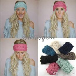 Wholesale Heart Knit Headband - Women's Fashion Wool Crochet Headband Knit Hair band Flower Winter Ear Warmer headbands for women S507-01B