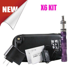 Wholesale E Cigarette Battery Lava Tube - Original Lava Tube X6 Ecigarette Starter kit Variable Voltage 1300MAH Battery X6 Atomizer E Cigarette Vaporizer Pen Wax DHL Free Shipping