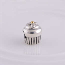 Wholesale Sterling Silver Screw Beads - 2016 new 925 Sterling Silver Screw Thread Cupcake Bead Fits pandora Charm Bracelets & Necklaces European Style Jewelry 1pc lot hot sale