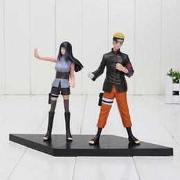 Wholesale Naruto Pvc Set - 2pcs set 16cm Naruto Uzumaki Naruto Hyuuga Hinata PVC Action Figures Collectible Model Toys in Bag