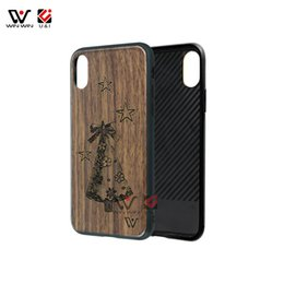 Wholesale Laser Real - Support laser engraving real bamboo walnut wood OEM Custom Design Mobile Phone Case for iPhone X