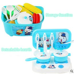 Wholesale Toy Kitchen Utensils Wholesale - Wholesale- 1PCS children play toy kitchen cooking utensils packages for boys and girls aged 3-10 years of parent-child interaction toys