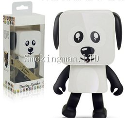 Wholesale Electronic Robot Dogs - Dancing Dog Bluetooth Speakers Portable Mini Electronic Robot Stereo Speakers Electronic Walking Toys With Music Wireless Speaker Toy