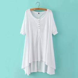 Wholesale Punk Style T Shirt - Wholesale-LJ5 Fashion Summer Women Punk Style Cotton Long T Shirt Dresses Vintage Half Sleeve Casual High Street Brand vestidos oversized