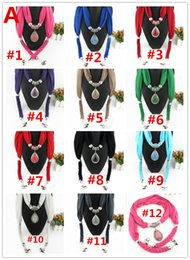 Wholesale Cheap Crosses Jewellery - cheap pendants scarf jewelry New scarf with jewellery cotton soft scarves beads Mix design & Colors DHL