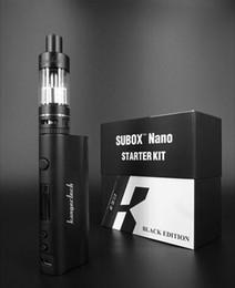 Vape kbox nano on-line-Original Kanger Subbox Kit Nano 2 ml Capacidade Do Tanque 50 W Kbox vape mod Tela OLED 18650 Bateria Compatível OCC Preço de Promoção bobina