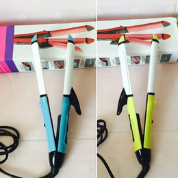 Wholesale Hair Dryer Mini Pink - Mini Portable Hair Roller Straighter Dual Purpose Electronic Curling Straightening Irons Ladies Make Up Accessories ES604