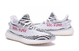 Wholesale Light Up Shoes For Adults - Sply 350 V2 Boost Zebra Bred Semi Frozen Beluga Cream White Black Copper 350 V2 Boost Running Shoes For Adult