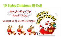 Wholesale China Posts - DHL 20 PCS Christmas doll:10 Styles Plush Dolls A Christmas Toy Dolls Gift Green Pink Red Blue Purple Doll China post Free Shipping