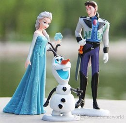 Wholesale Cheapest Action Figures - Cheapest Toy Set! 2014 New Movie Frozen Anna Elsa Hans Kristoff Sven Olaf PVC Action Figures Toys Kids Doll Gift #6 SV000972