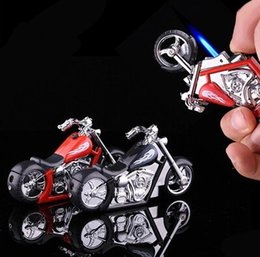 Wholesale Cool Motorcycles For Sale - Hot sale very cool creative Crown prince motorcycle spitfire lighter windproof inflatable lighter for cigarette as gift free shipping