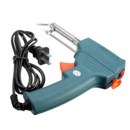 Wholesale Electric Solder Iron Gun - Automatic Send Tin Soldering Gun Iron Tool 220v 60w With a Diameter Of 0.8-2.0mm Tin Line Electric Welding