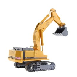 Wholesale Truck Toy Model - Wholesale-Metal Alloy Diecast Toy Excavator Truck Model R 964C Litronic Model 1:87 Capterpillar Navvy Engineering Truck Collection Toys