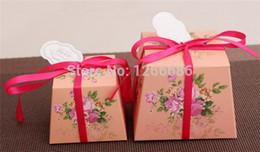Wholesale Trapezoidal Box - 1000pcs lot Wedding Gift Boxes Candy Boxes Trapezoidal Favors Boxes 0920#20