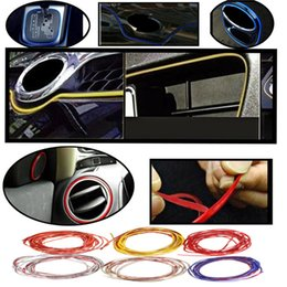 Wholesale Car Interior Decorative Strip - 2015 New 5M 6Colors Flexible Trim Fashion Car Interior & Exterior Moulding Strip Decorative Line order<$18no track