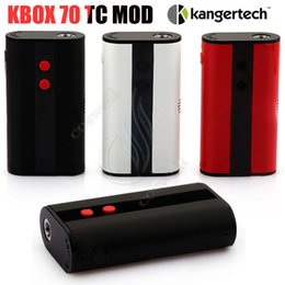 Wholesale V Control - Original Kanger Kbox 70 TC Mod Kangertech Temperature control 70W 4000mah Built in Battery Micro USB 510 V 120W 200W Vapor ecig Box Mods DHL