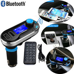Wholesale Micro Sd Radio - Smartphone Bluetooth MP3 Player Handsfree Car Kit + Dual USB Charger + FM Transmitter + Handsfree with Micro SD TF Card Reader