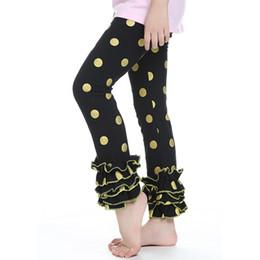 Wholesale Ruffled Leggings For Girls - baby leggings pants cotton knitted polka dots children tight legging autumn ruffled girls pant for 6T